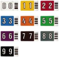 grau Leitz 66311000 Orgacolor Buchstabensignal V 250 St/ück