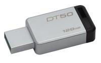 Kingston Technology DataTraveler 50 128GB USB flash drive USB Type-A 3.2 Gen 1 (3.1 Gen 1) Zwart, Zilver