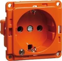 Steckdose SCHUKO EB, LED, orange D 6511.33 ME LED/4