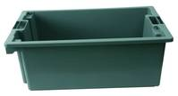 Detailabbildung - Grauer Transport-/Lagerkasten ohne Deckel, 66 x 45 x 38,5 cm