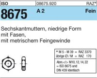 ISO8675 M10x1