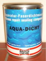 AQUA-DICHT elastische Reparatur-Faserdichtmasse 8 x 1-Liter-Dose grau