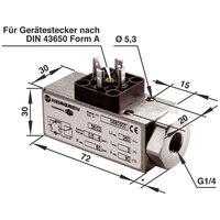 Norgren 0880300 18D Pneumatic Pressure Switch G1/4 Port 0.5 to 8 Bar