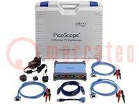 Osciloscopio PC; Banda: ≤20MHz; Canales:4; 256Mpts; 80Msps; 50V