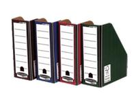 Bankers Box by Fellowes Premium Magazine File Fastfold A4 Plus Blue and White Ref 0722906 [Pack 10]