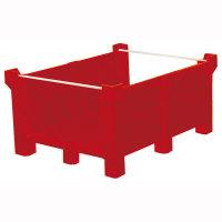 Stapelbehälter-stirnseitig offen, Volumen: 400 l, Größe (BxHxT):120x60x100 cm Version: 02 - rot
