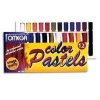 Boîte de 12 pastels sec coloris assortis, 0,9 cm de diamètre