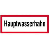 Modellbeispiel:, Hinweisschild, Hauptwasserhahn, Art. 21.2871