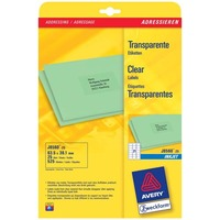Adressetikett InkJet Zweckform J8560-25 transp.63,5x38,1 25er Packung