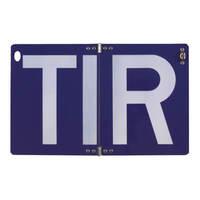 T.I.R -Schild Hinweisschild, klappbar, ohne Trennpunkte, Alu 2,0mm, 40x25 cm