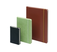 Silvine Executive Soft Feel Notebook Ruled with Marker Ribbon 160pp 90gsm A5 Tan Ref 197TN