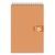 5 ETOILES Bloc spiralé en-tête 160 pages non perforées 80g 5x5 format 14,8x21 (A5) Couverture orange