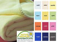 Waffelpiqué-Decke apfelgrün, 150x210cm, 100% BW