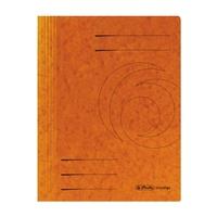 Herlitz Spiralhefter 10903029 DIN A4 Colorspankarton orange