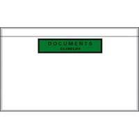 Boîte de 1000 pochettes document ci-inclus recyclées format DL 22,8 x 12 cm transparent