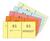 Nummernblock gelb, Nr. 1-1000, 105x53 mm, 10x100 Blatt