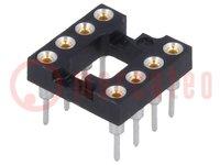 Sockel: DIP; PIN:8; 7,62mm; gold flash; Polyester; ØAusg:0,51mm; 3A
