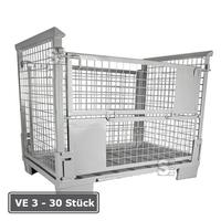 Modellbeispiel: EUR-Gitterbox, faltbar, aus Stahl, mit Klappe an einer Längsseite, (Art. 19547)