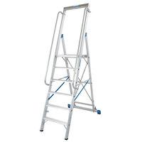 Stufen-Stehleiter, 10-stufig, Arbeitshöhe: ca. 4,35 m, Standhöhe: ca. 2,35 m
