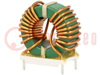 Inductor: wire; THT; 1mH; 10A; 10mΩ; Pitch:20.32x10.16mm; H:30.48mm