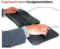 ErgoTouch-Wave-Microsoft mouse and keyboard with leather wristsupports
