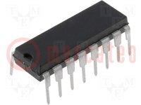 IC: digitális; 3-állású, D flip-flop, regiszter; CMOS; THT; DIP16