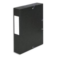 5 ETOILES Boîte de classement à élastique en carte lustrée 7/10, 600g. Dos 60mm. Coloris noir.