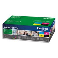 BROTHER Pack Laser 4 Couleurs TN243CMYBK