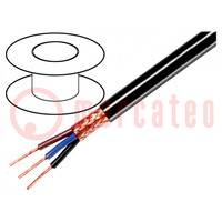 Wire; 3x0,25mm2; braid made of copper wires; PVC FirestoP®; 49V