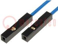 Csatlakozó vezeték; PIN:1; 250mm; Szín: kék; db:10