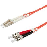 VALUE LWL-Kabel 62,5/125µm LC/ST, OM1, orange, 1,0 m