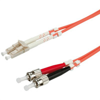 VALUE LWL-Kabel 62,5/125µm LC/ST, OM1, orange, 5,0 m