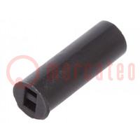 Distanční podložka; LED; ØLED: 5mm; Dl: 15mm; černá; UL94V-2