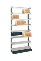 Einzel-Anbauregal Orgaclass®, für 49 Stehsammler, hellgrau