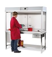 Gefahrstoffarbeitsplatz mit Frischluftschleier Basic-Line, Modell GAP.125.9.7, 900x750x1400mm