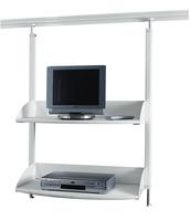 TV-/Videoregal für Legaline DYNAMIC, 2 verstellbare Böden, Weiß RAL 9016