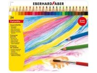 aquarelpotlood Eberhard Faber metalen etui a 24 stuks