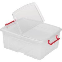 Office Depot Opbergdoos Transparant plastic 39,5 x 50 x 19 cm