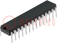 PIC mikrokontroller; Memória:7kB; SRAM:192B; 20MHz; THT; DIP28