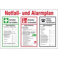Modellbeispiel:, Aushang, Notfall- und Alarmplan, Art. 43.a5975