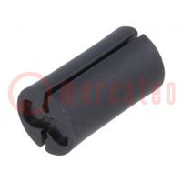 Distanční podložka; LED; ØLED: 5mm; Dl: 9,52mm; černá