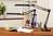 Unilux Swingo LED Desk Lamp Adjustable Arm 8W Max Height 650mm Base Diameter of 200mm Black Ref 400093838