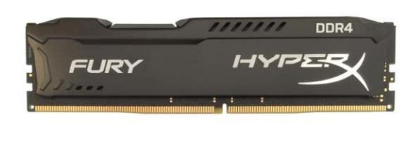 DDR4 Kingston HyperX Fury Black 8GB (2x4GB) 2133MHz CL14 1.2V - HX421C14FBK2/8