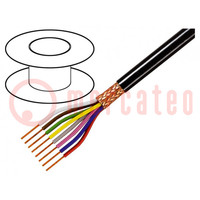 Wire; 8x0,25mm2; braid made of copper wires; PVC FirestoP®; 49V