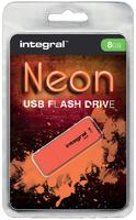 USB-STICK INTEGRAL 8GB 2.0 NEON ORANJE