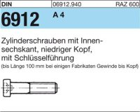 DIN6912 M6 x 10 mm Stahl A4 1.4401