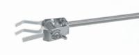 Mikroklemmen, 18/10-Stahl mit Kork/Silikon, Typ 3* , Spannbereich 0 bis 20 mm, Schaftlänge 150 mm