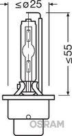 Bulb, spotlight, OSRAM, 66240ULT