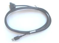 Zebra CBL-58926-04 tussenstuk voor kabels USB A DB9 Zwart