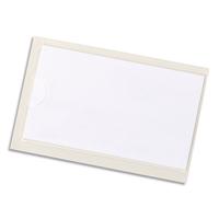 DURABLE Sachet 10 Pochettes adhésives Pocketfix H43 x L74 mm - ouverture latérale - Transparent